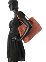 Shoppingtas Natural Leder Etrier Rood natural ENAT05-vue-porte