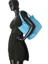 Sac Shopping Velvet Stampa Cuir Milano Bleu velvet stampa V2161216-vue-porte