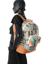 Sac à Dos 1 Compartiment Roxy Multicolore backpack RJBP3441-vue-porte