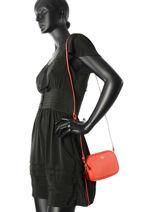 Sac Bandoulière Fashion Cuir Coach Rouge fashion 65547-vue-porte