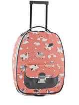 Kinderkoffer Bagage Jeune premier Roze bagage T16