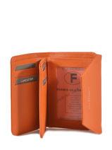 Portefeuille Cuir Lancaster Orange adele 12121PBG-vue-porte