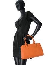 Sac Polochon Adele Cuir Lancaster Orange adele 52183PBG-vue-porte