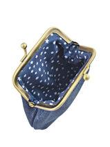 Porte-monnaie Cuir Mila louise Bleu vintage 3231SC-vue-porte
