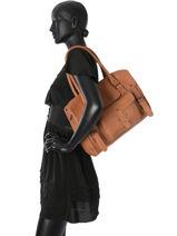 Shoppingtas Vintage Leder Paul marius Roze vintage M-vue-porte