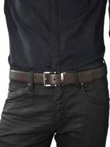 Ceinture Armani jeans Marron belt CC884-vue-porte