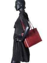 Sac Shopping Collet Milano Rouge collet 2899-vue-porte