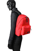 Sac à Dos 1 Compartiment A4 Eastpak Rouge pbg authentic PBGK620-vue-porte