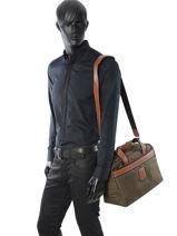 Longchamp Boxford Sac de voyage Marron-vue-porte