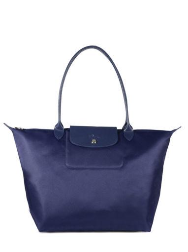 Longchamp Sac porté travers Bleu