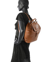 Longchamp Mystery Sac à dos Marron-vue-porte