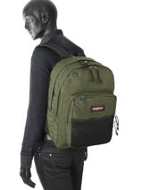 Sac à Dos 2 Compartiments Eastpak Vert pbg authentic PBGK060-vue-porte