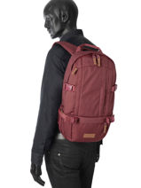 Sac A Dos 1 Compartiment Eastpak Rouge pbg core series PBGK201-vue-porte