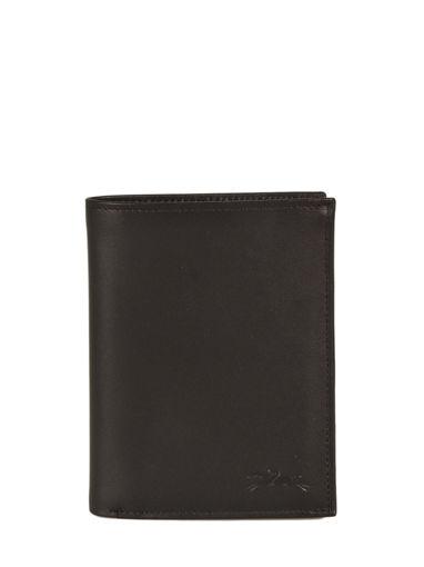 Longchamp Baxi cuir Portefeuille Noir