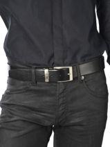 Ceinture Ajustable Petit prix cuir Noir classic 2375T-vue-porte