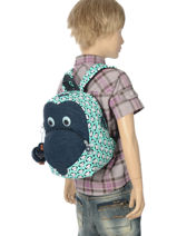 Sac à Dos Mini Kipling Bleu back to school 8568-vue-porte