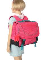 Cartable 2 Compartiments Kipling Rose back to school 12074-vue-porte