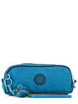 Trousse 3 Compartiments Kipling Bleu back to school 13564-vue-porte