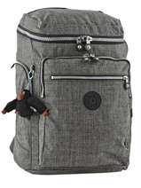 Sac à Dos 2 Compartiments Kipling Gris back to school 16199