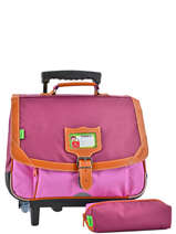 Cartable A Roulettes 2 Compartiments + Trousse Tann