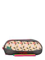 Trousse 2 Compartiments Cameleon Rose new basic NBA-TROU-vue-porte