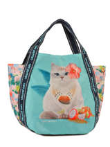 Sac Cabas  S  Tropical Teo jasmin Bleu tropical JAS626TP