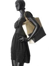 Shoppingtas Dori Leder Furla Beige dori DRI-BKR9-vue-porte