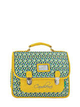 Cartable 1 Compartiment Cameleon Jaune retro RET-CA32