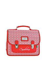 Cartable 1 Compartiment Cameleon Rouge retro RET-CA32