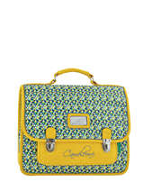 Cartable 2 Compartiments Cameleon Jaune retro RET-CA35