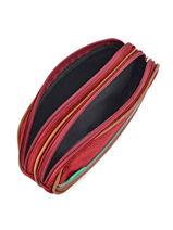Trousse 2 Compartiments Cameleon Rouge vintage VINTROUS-vue-porte