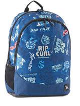 Sac A Dos 2 Compartiments Rip curl Bleu heritage logo BBPIX4