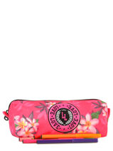 Trousse 1 Compartiment Love love Rose flowery LPG10056-vue-porte