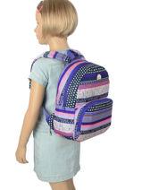 Sac A Dos Mini Roxy Multicolore back to school RJBP3536-vue-porte