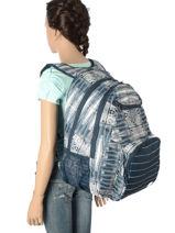 Sac à Dos 2 Compartiments Avec Trousse Offerte Roxy Bleu back to school RJBP3594-vue-porte