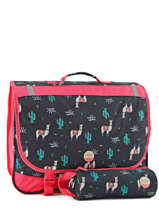 Cartable 2 Compartiments Avec Trousse Assortie Roxy Noir kids RLBP3022