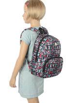 Sac à Dos Mini Roxy Multicolore back to school RJBP3536-vue-porte