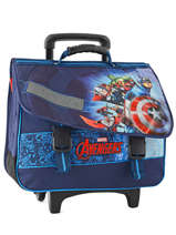 Cartable à Roulettes 2 Compartiments Avengers Bleu shield AVL13006