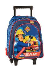 Sac à Dos à Roulettes Sam le pompier Bleu sam 4386SAM2