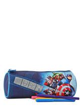 Trousse 1 Compartiment Avengers Bleu shield AVL10003-vue-porte