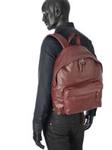 Sac à Dos 1 Compartiment Eastpak Rouge leather K620L-vue-porte