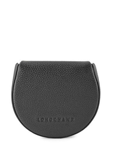 Longchamp Le foulonné Porte monnaie Noir