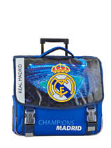 Cartable A Roulettes 2 Compartiments Real madrid Bleu rmcf 173R203R
