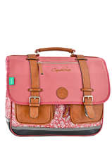 Cartable 3 Compartiments Cameleon Rose vintage VINCA41