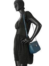 Sac Bandoulière Vintage Cuir Nat et nin Bleu vintage NOVAPBG-vue-porte