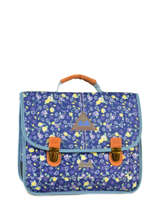 Cartable 2 Compartiments Poids plume Bleu be all over color PCO15357