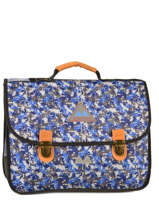 Cartable 2 Compartiments Poids plume Bleu be all over color PCO15387
