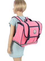 Cartable 2 Compartiments Rip curl Rose solid LBPMX4-vue-porte