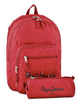 Sac à Dos 2 Compartiments Pepe jeans Rouge harlow 66824