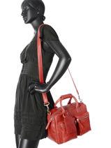 Sac The Little Bag Romance Cuir Cowboysbag Rouge sturdy romance 1346-vue-porte
